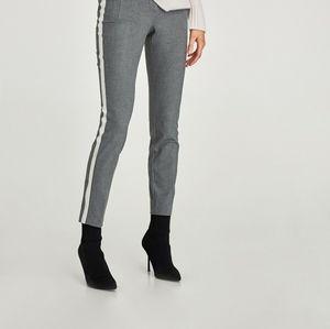 Zara basic Gray with white stripe trousers